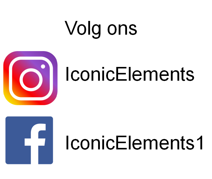 volg ons Iconic Elements of instagram en facebook